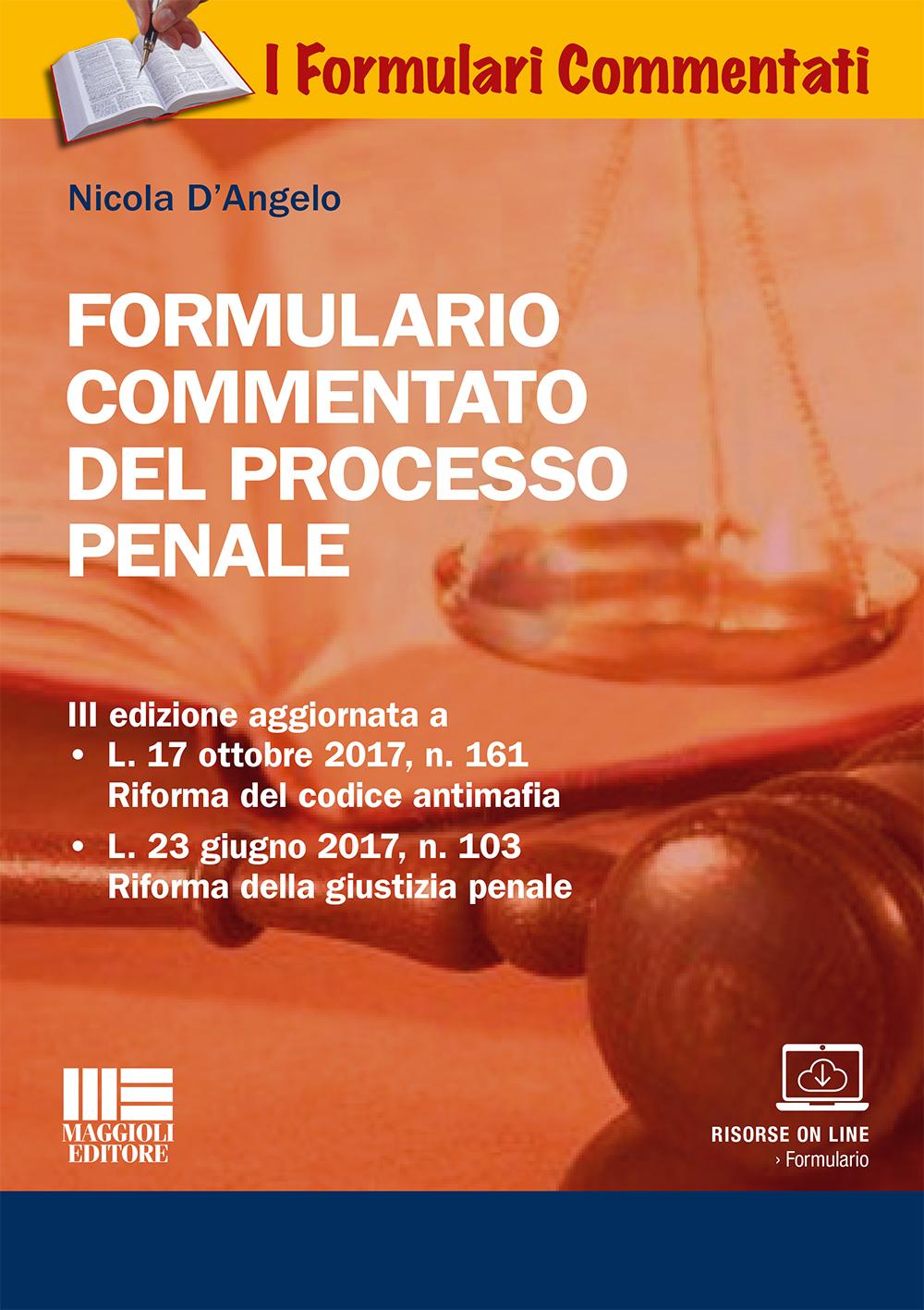 Formulario commentato del processo penale