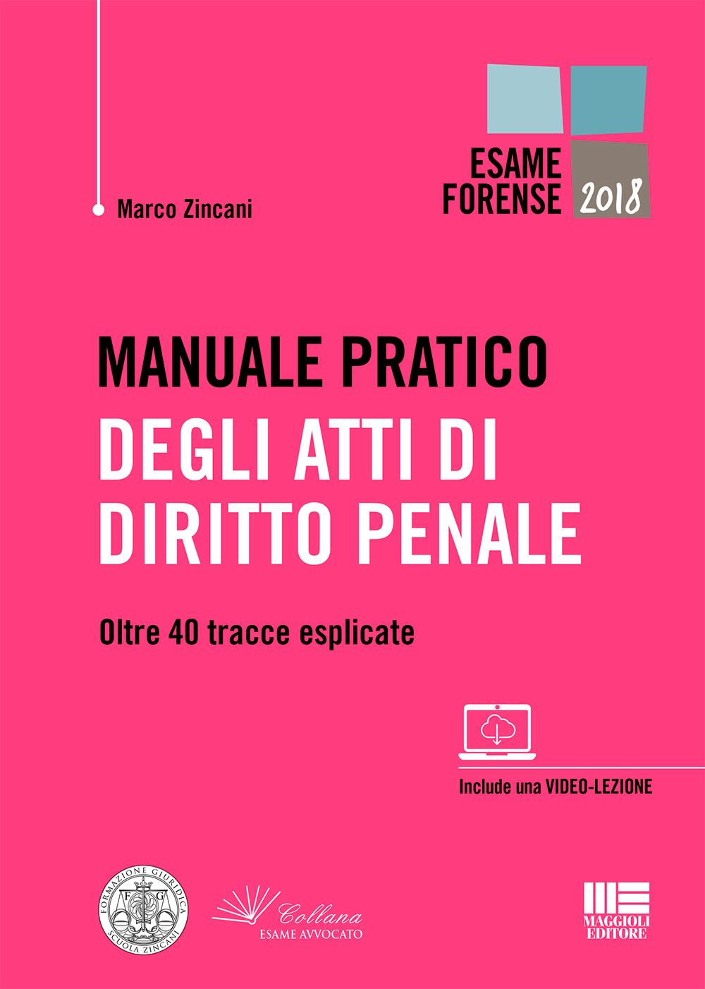 Manuale pratico degli atti di diritto penale