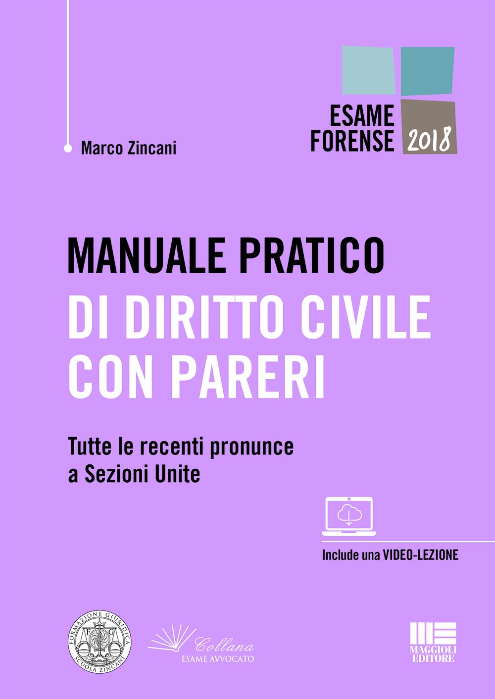 Manuale pratico di diritto civile con pareri
