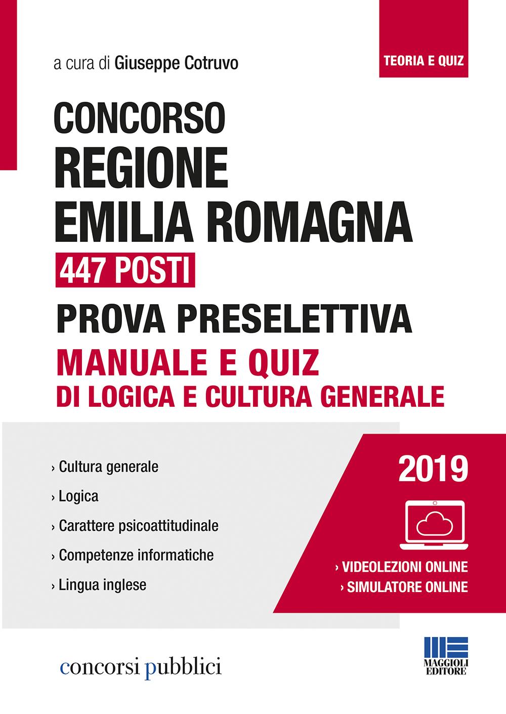 Concorso Regione Emilia Romagna 447 posti Prova Preselettiva